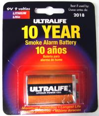 Ultralife 10 Year Smoke Alarm Battery